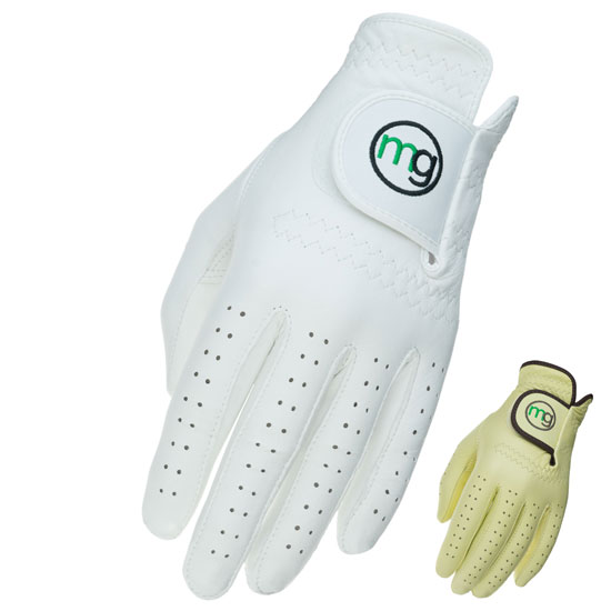 DynaGrip White Golf Glove with Beige Golf Glove Inset