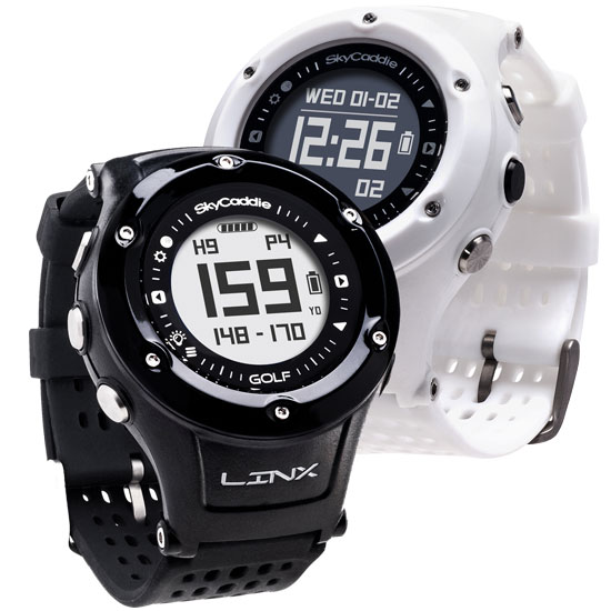 SkyCaddie LINX GPS Watches in White and Black