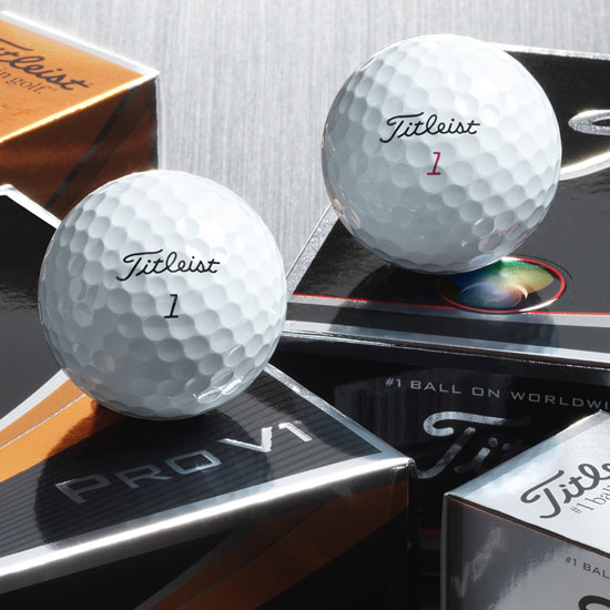 Titleist is #1 on Worldwide Tours, and the Pro V1 class are their best balls! (Note: balls here pictured as new, see other images for examples of near-mint)